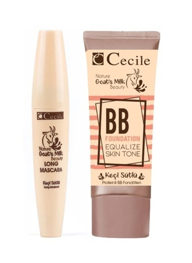 Cecile Keçi Sütlü Long Maskara + Keçi Sütlü Bb 02 Fondöten Renksiz